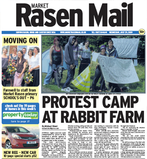 Market Rasen Mail front page
