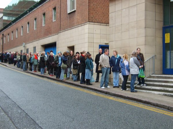 Queuing to get in the festival last year!