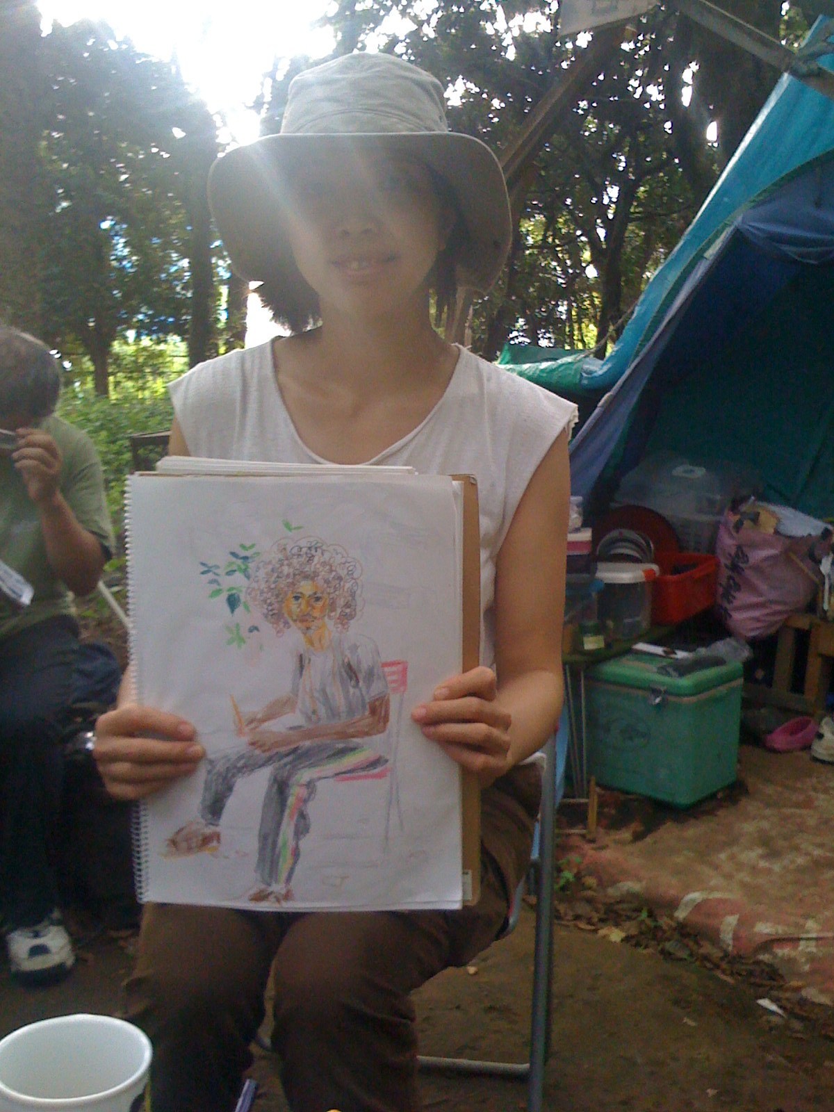 Misako gave me the honour of drawing me