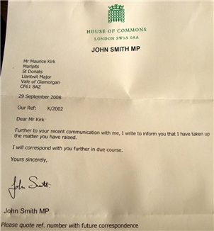 MP John Smith Accepts The Need To Enquire of Police Harassment