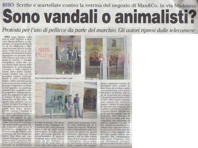 MAX & CO. STORE VANDALIZED (Italy)
