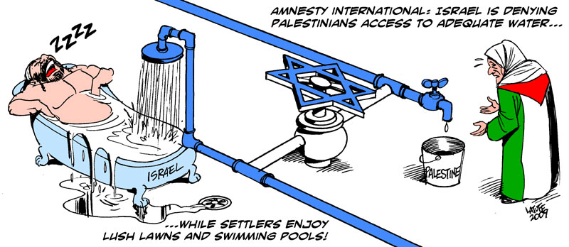 Israel denies water to Palestinians