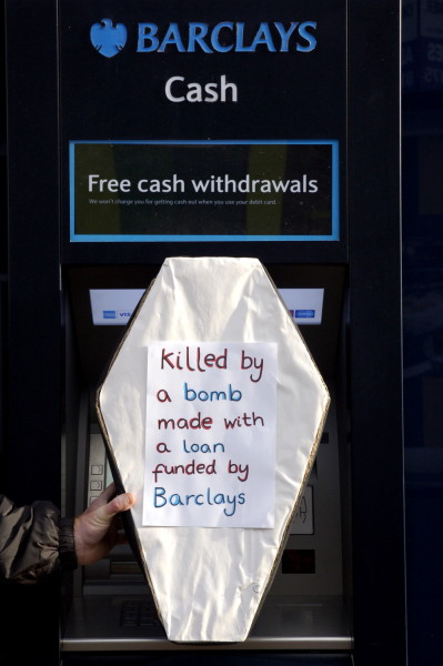 Barclays provides cash for bombs
