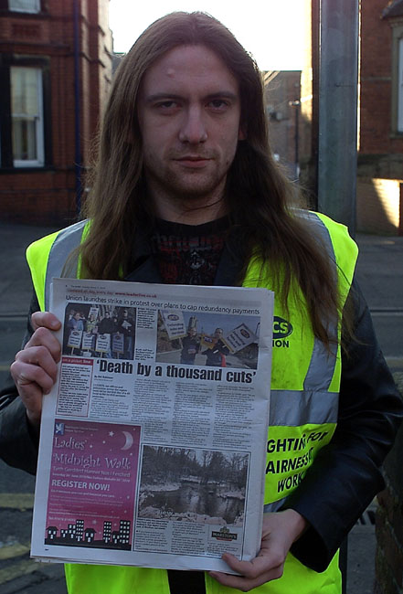 PCS Union member and Newspaper Article