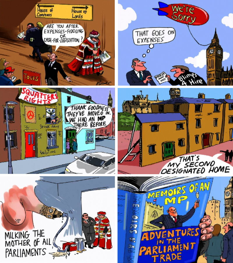 A3.  Patrick Blower's Biting Cartoons