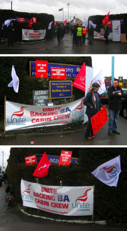 D6a. Strike Support Rally at Bedfont F.C.