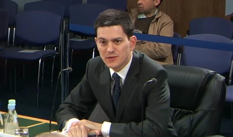 UK Foreign Minister David Miliband before the Iraq Inquiry, 8 March 2010