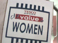 Tesco devalues women