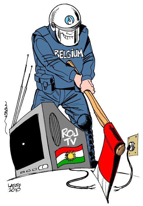 Police shut down Kurdish TV in Belgium