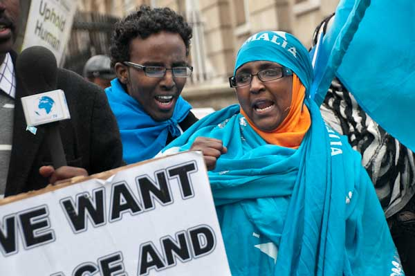 Somalis joined Ethiopians in the protest