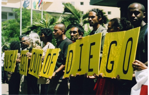 The islanders protest use of Chagos as a base for the bombing of Iraq