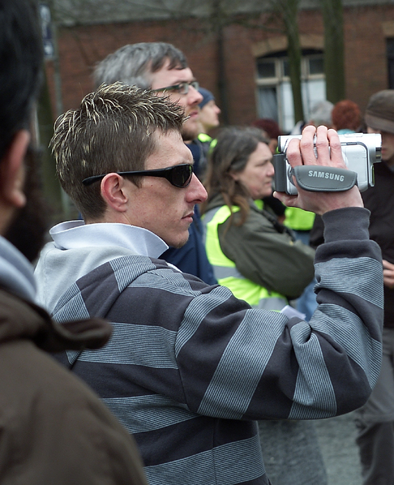"""Suspected"" EDL Spotter filming Protesters."