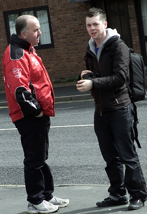 """Suspected"" EDL Spotters, hiding a camera."