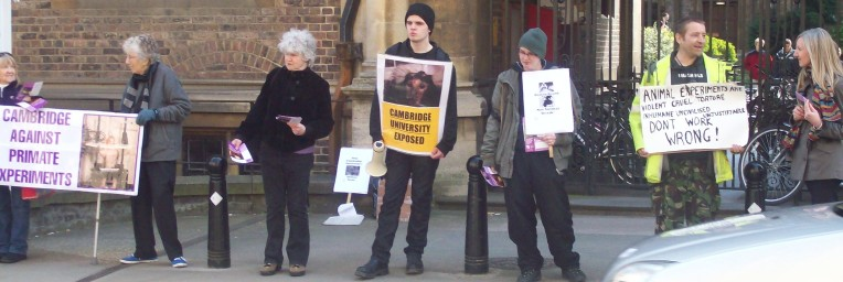 Activists protest outside after leaving Cambridge Uni's Downing Site