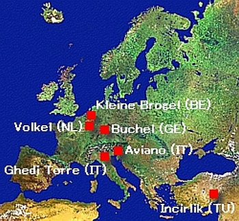 US nuclear weapon bases in Europe (2008)