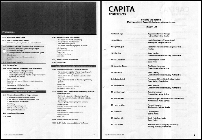 programme and list of delegates