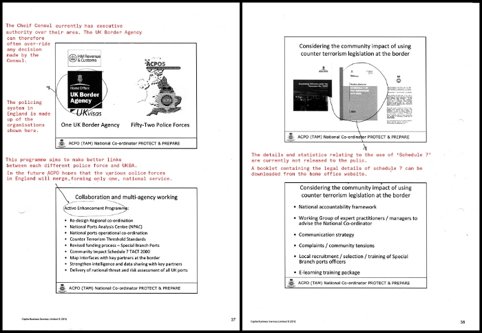 pages from the Acpo presentation 2