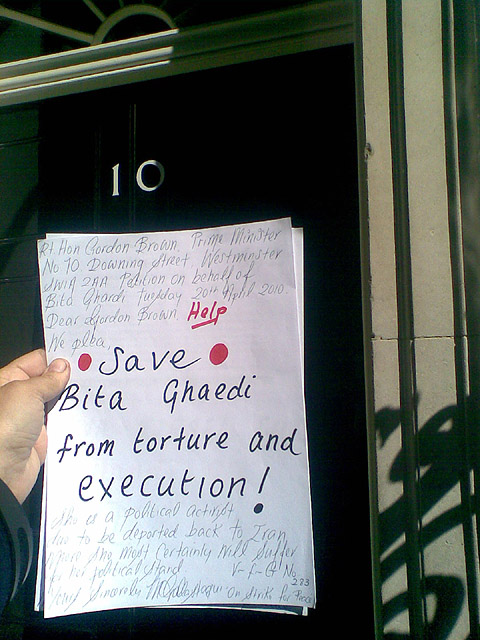 Activists in Downing Street.