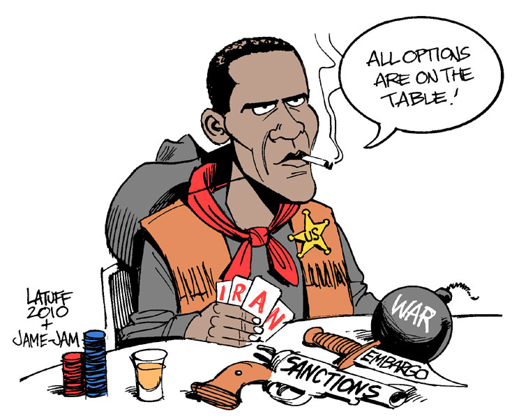 "Warmonger Obama and his ""options""..."