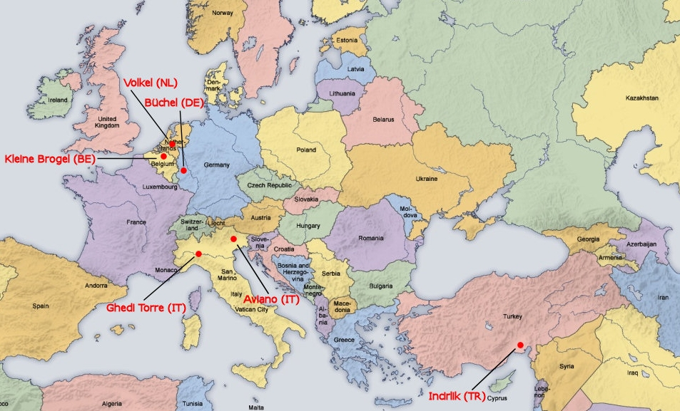 US Threatens A Nuclear Firststrike Against Iran UK Indymedia - Us nuclear arsenal map