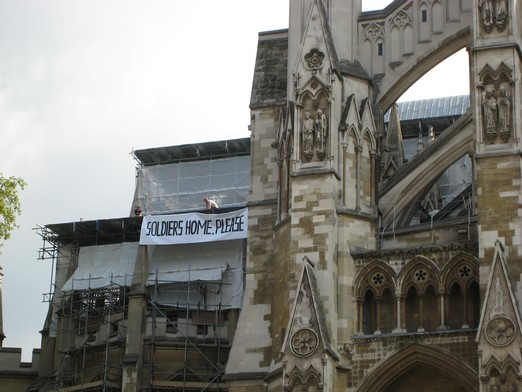 Westminster Abbey banner action