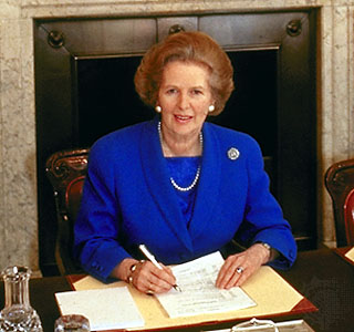 The Late Margaret Thatcher