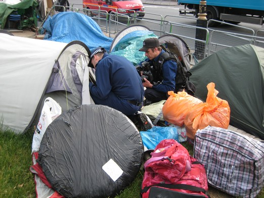 Brian & co's tents searched