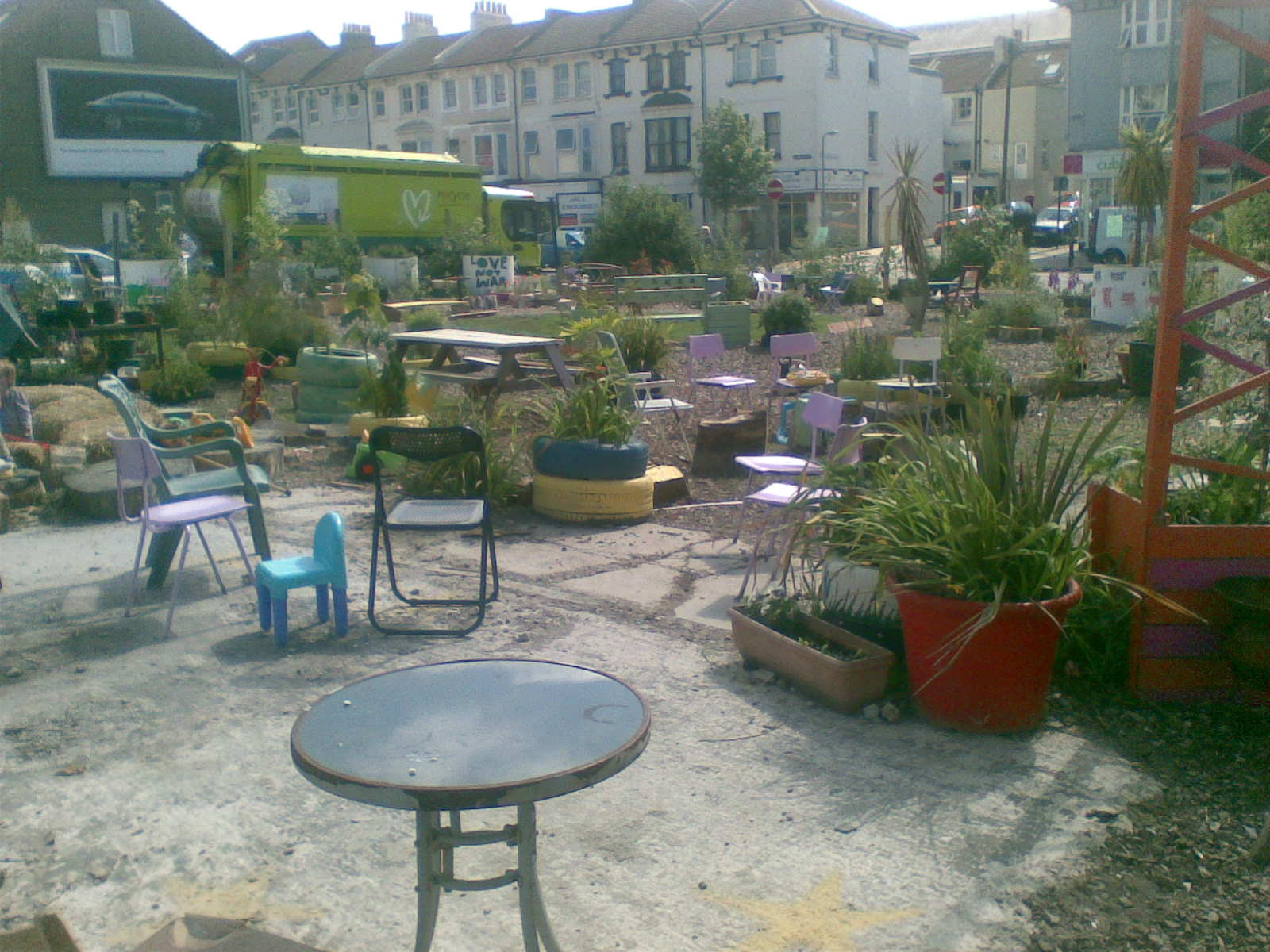 Lewes Road Community Garden in June sunshine