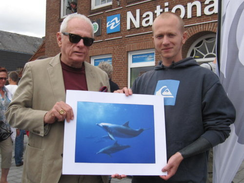 Former dolphin trainer turned activist Ric O'Barry shows his support