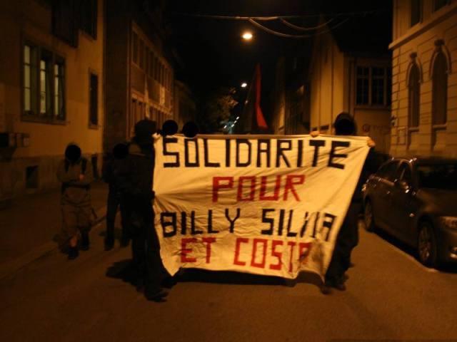 Solidarity demo in Biel, Switzerland