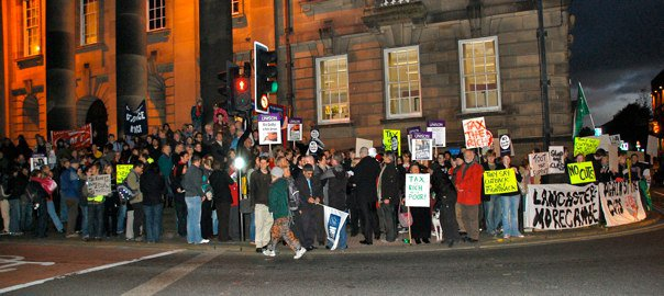 Lancaster Protest Rally Outside Town Hall