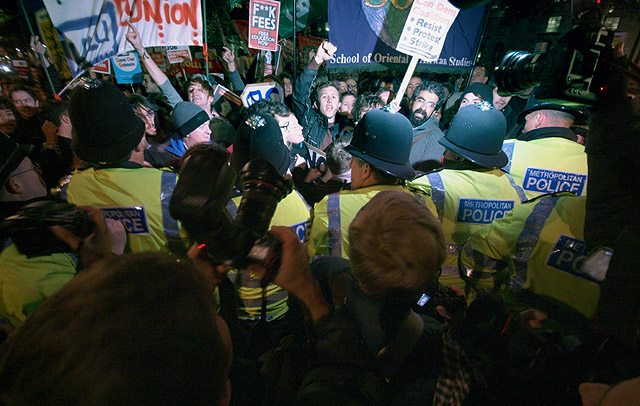 Scuffles Outside Downing Street.