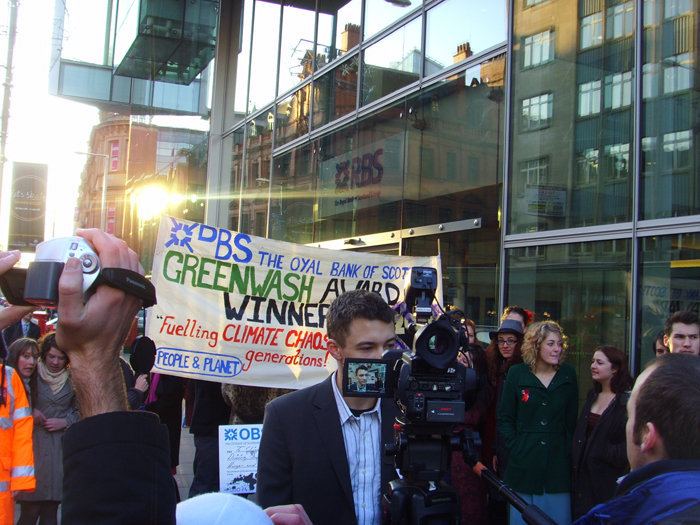 RBS presented with best Greenwash Award - December 2008