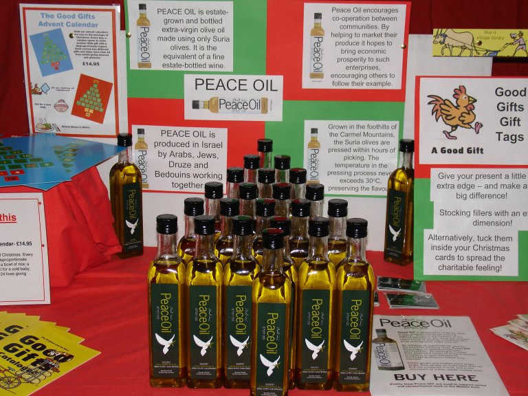 Peace Oil display