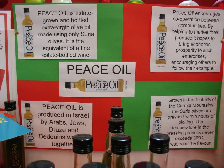 Peace Oil all working happily together
