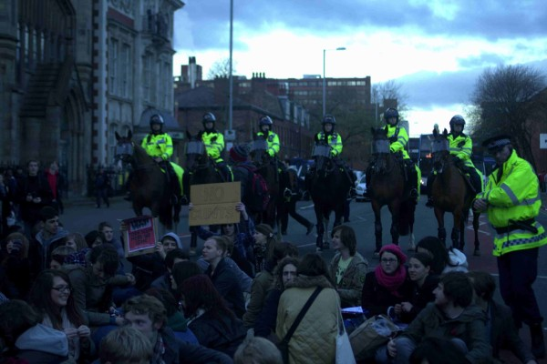 Police horses used as threat and intimidation