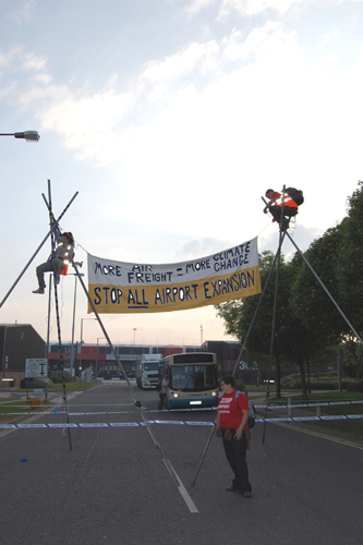 Blockade of World Freight Centre at Manchesrer Airport - May 2010