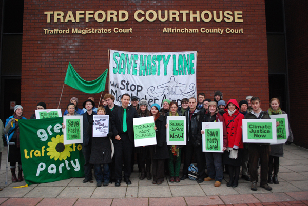 Supporters and defendants outside court - 6th December 2010