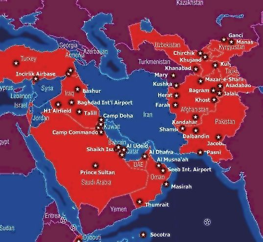 US bases surrounding Iran