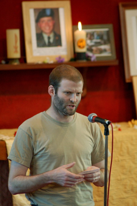 Former SAS soldier, Iraq war veteran and war refuser Ben Griffin