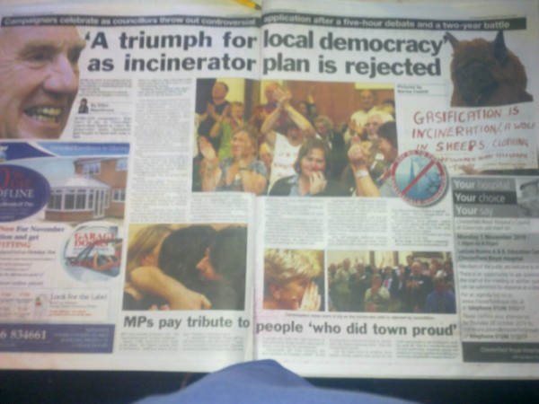chesterfield incinerator victory
