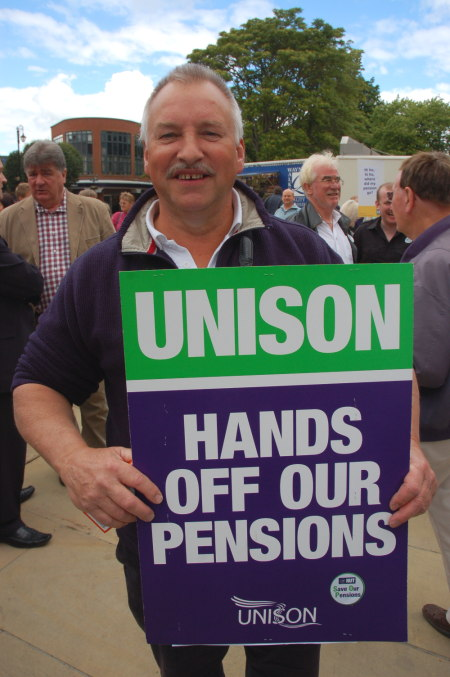 Support from Denbighshire Older Person's Champion, Unison member