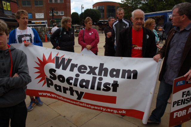 Wrexham Socialist Party banner