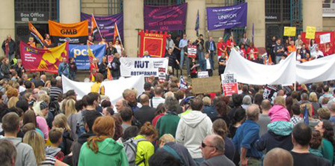 Rally in Sheffield