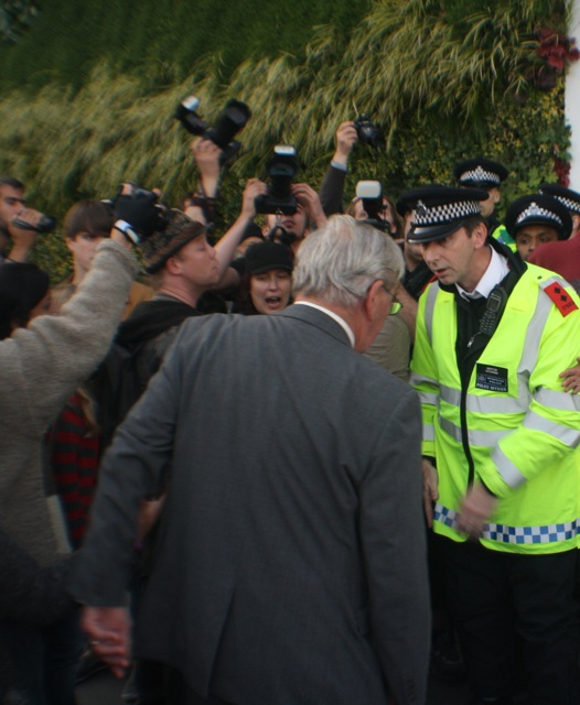 Arms dealers receive a mouth-full from angry protesters