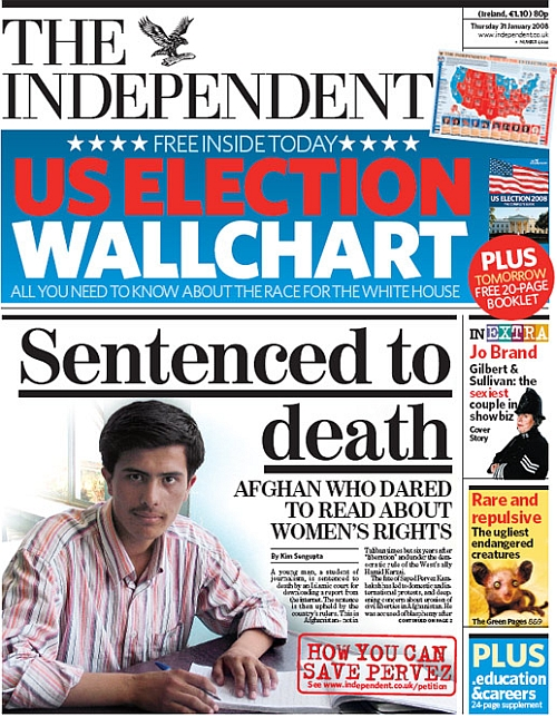 The Independent, 31 January 2008