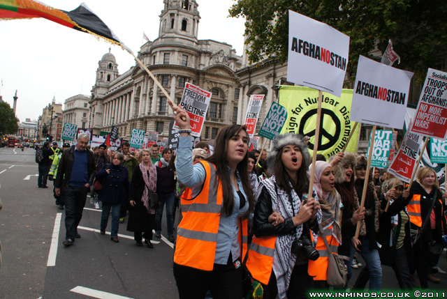 March from Trafalgar Square to Downing Street