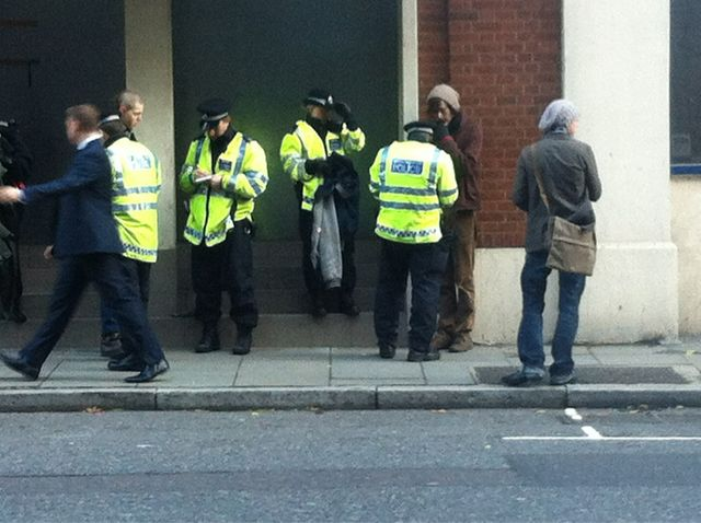 Stop and Search outside Bank of Ideas http://bit.ly/tENnpW