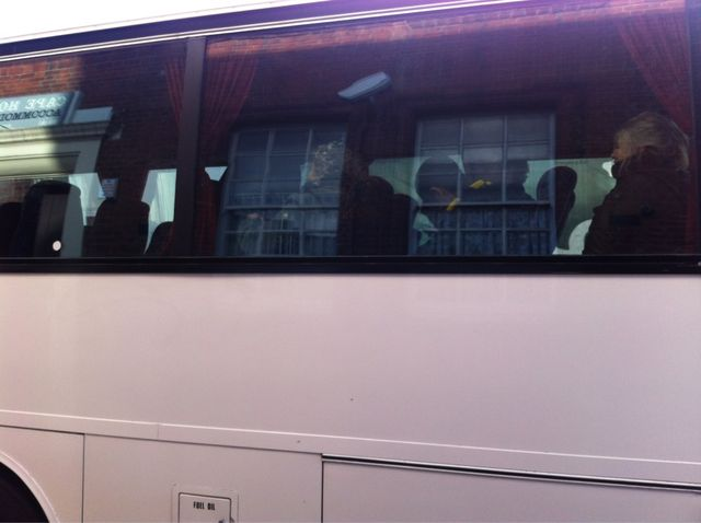 Dalston arrestees on coach http://bit.ly/rFQ1hG