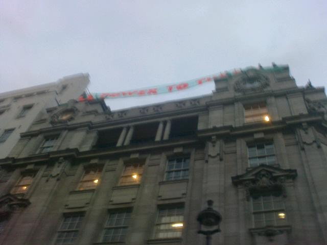 Banner at Panton House http://twitpic.com/7m56zb/full